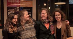 Natalia Harvey, Gemma Tomlinson, me and Alethea Coombe. Photo by Cameron Jamieson.